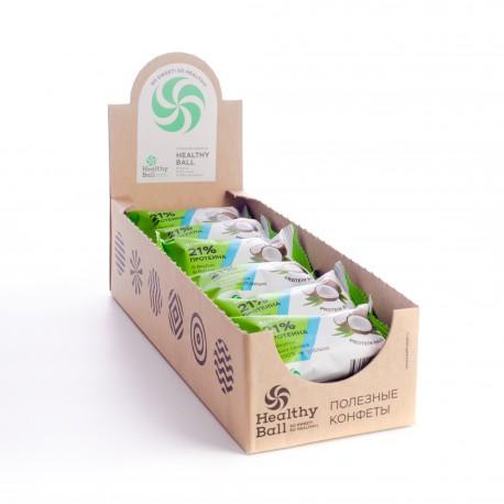 Полезные конфеты HealthyBall Protein кокос , 12шт.*28гр.