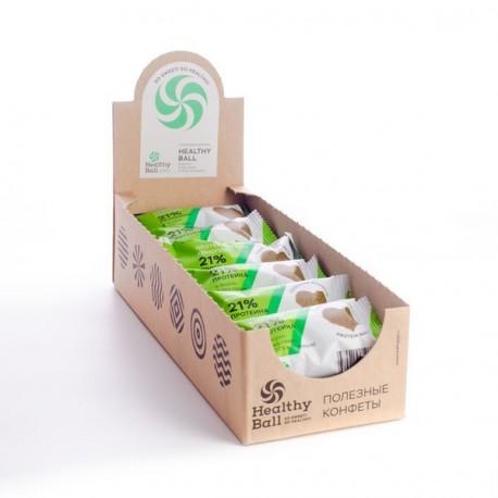 Полезные конфеты HealthyBall Protein семян конопли , 12шт.*28гр.