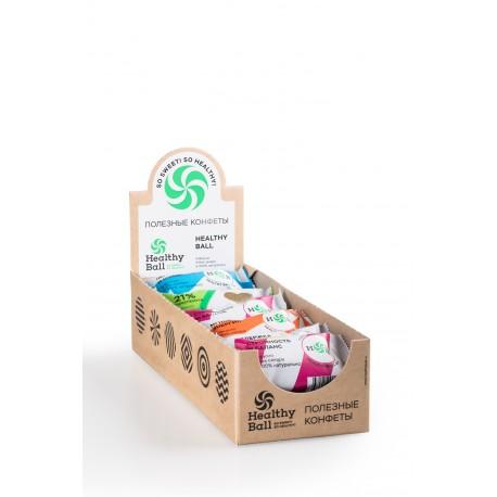Полезные конфеты HealthyBall Mix, (30гр*12 шт)